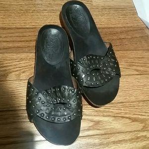 Nine West leather sandals size euc 5.5